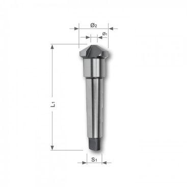 Kužeľový a odihľovací záhlbník HSS, tvar D, 120°