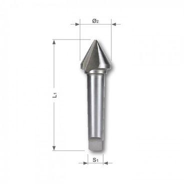 Kužeľový a odihľovací záhlbník HSS, tvar D, 60°