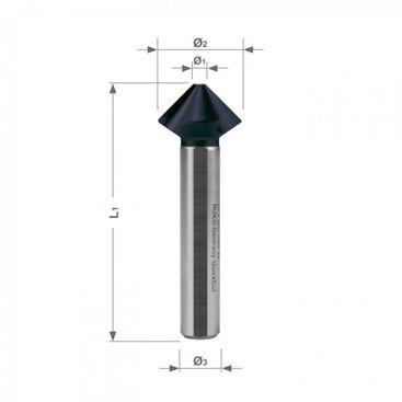 """""""QUICKCuT"""" Kužeľový a odihľovací záhlbník HSS-TiAlN, DIN 335, tvar C, 90°"""
