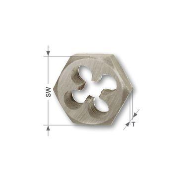 Šesťhranná rezacia matka G - valcový trubkovitý, DIN 382, HSS, brúsené