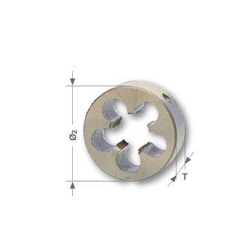 Závitová kruhová čelusť BSW - Whitworth, DIN EN 22568, HSS, brúsené