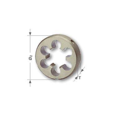 Závitová kruhová čelusť G - valcová trubkovitá, DIN EN 24231, HSS, brúsené