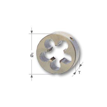 Závitová kruhová čelusť M - metrická, DIN EN 22568, HSS, brúsené