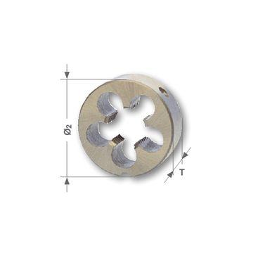 Závitová kruhová čelusť UNC - americká hrubá, DIN EN 22568, HSS, brúsené